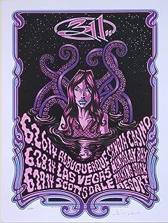 311 Concert Poster Justin Hampton S/N Southwest 2014