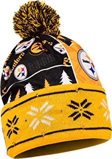 Pittsburgh Steelers Exclusive Busy Block Printed Light Up Beanie
