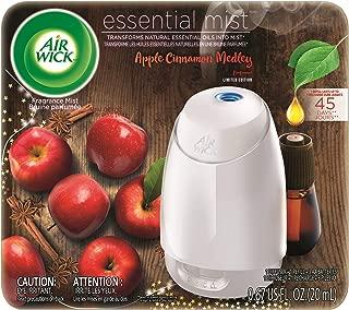 Air Wick Essential Mist, Essential Oil Diffuser, (Diffuser + 1 Refill), Apple Cinnamon Medley, Fall scent, Fall spray, Air Freshener