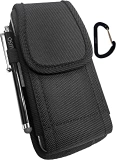 WSQ Rugged Pouch Holster Nylon Canvas Case with Belt Loop + Metal Clip + Hook+Stylus Pen For Iphone SE 5S 5C 5 (perfect fit with lifeproof & waterproof case on :)