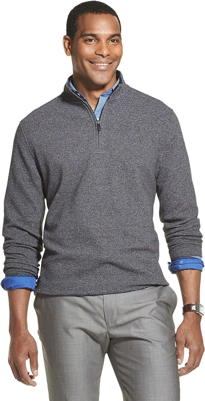 Van Heusen Men's Slim Fit Never Tuck Long Sleeve 1/4 Zip Solid