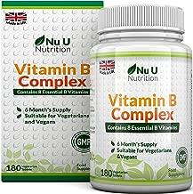 Vitamin B Complex 180 Tablets 6 Month Supply   Contains All 8 B Vitamins in 1 Tablet, Vitamins B1, B2, B3, B5, B6, B12, Biotin & Folic Acid   High Strength Vitamin B Complex   Vegetarian & Vegan