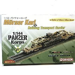 Dragon. DML #27 Panzer Korps Morser Karl Railway Transport Carrier 1/144 Scale Model Kit
