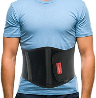 ORTONYX Ergonomic Umbilical Hernia Belt for Men and Women - Abdominal Support Binder with Compression Pad - Navel Ventral Epigastric Incisional and Belly Button Hernias Surgery Prevention Aid / 353-1