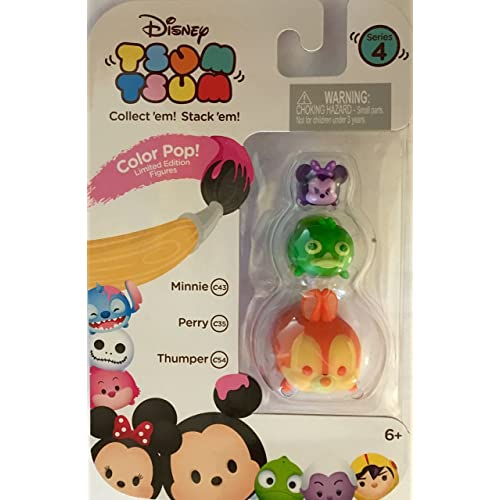 Tsum Tsum 3-Pack Figures Thumper//Grumpy//Daisy Color Pop