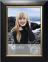 Malden International Designs 2350-57 Mason Black Angle Gold Inner Border Picture Frame