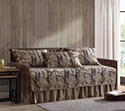Chezmoi Collection Salem 5-Piece Forest Woods Pre-Washed Quilt Set, Daybed Cover Bedding Set - Nature Camo Tree Leaves Pri...