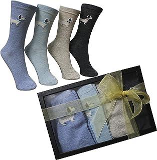 8933d7291 FERETI Calcetines Mujer Caja Regalo San Valentin Ideas Box Moda Perro  Salchicha Teckel Chica Regalitos Día