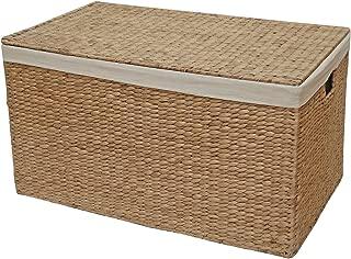 Con forro de mimbre tronco baúl para, cesta de