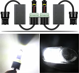 Alla Lighting Directly Plug & Play 1300 Lumens CAN-BUS Error Free 21W CREE Extremely Super Bright 6000K White 7440 7441 W21W 7440NA LED Bulbs for Turn Signal Blinker Light Lamps Replacement