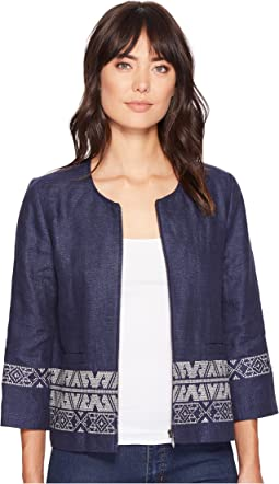 Embroidered Zip Jacket