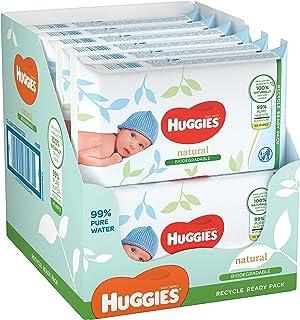 Huggies billendoekjes biologisch afbreekbaar - Natural Biodegradable - 576 stuks (12 x48 doekjes) - Voordeelverpakking