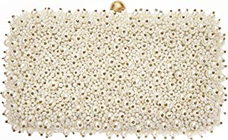 Cassie Pearl Beaded Box Clutch Bridal Bag, Ivory
