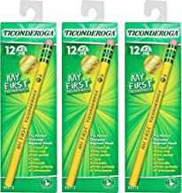 3 X My First Ticonderoga Primary Size #2 Beginner Pencils, Box of 12, Yellow (33312)