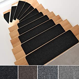 iCustomRug Indoor Outdoor Bevelled Non-Slip Stair Treads, Set of 14, Safety Grip for Children, Animals and Elders. 8.5