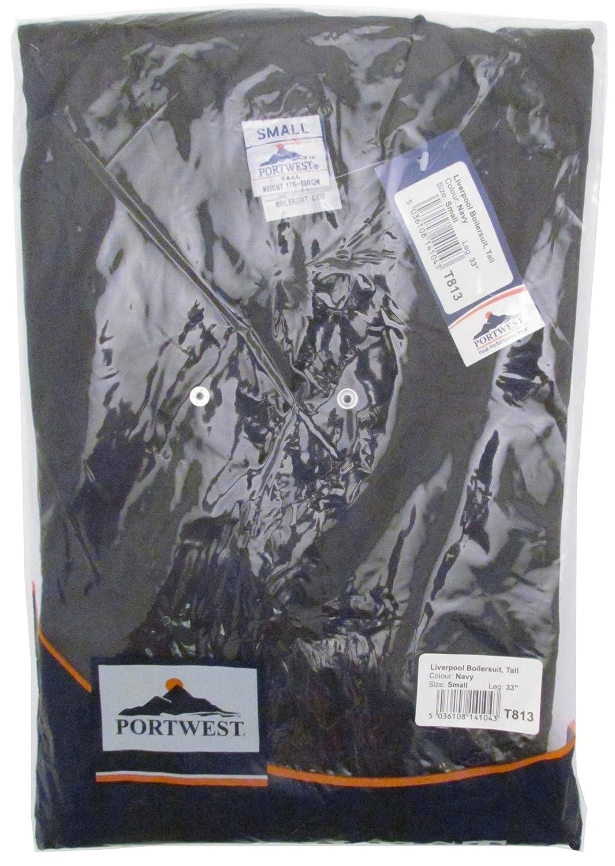 Portwest C813NARXXXL Mono de mec/ánico talla 3XL, largo de la pierna normal, poli/éster y algod/ón, cremallera