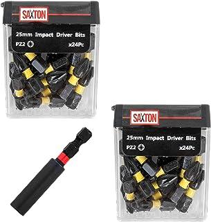 Sponsored Ad – Saxton 48 x PZ2 25mm Impact Duty Screwdriver Drill Driver Bits Set + Bit Holder in Tic Tac Box