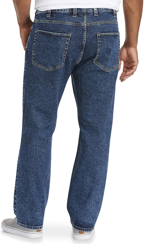 Essentials Pantalones vaqueros el/ásticos de corte recto para hombre