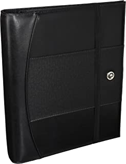 Case-it 1-Inch D-Ring Binder, Elastic Strap Closure, Black (LL-PRO-126)