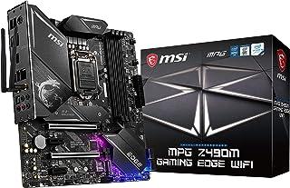 MSI - MPG Z490M Gaming Edge Wifi - Placa Base Performance Gaming  (10th Gen Intel Core, LGA 1200 Socket, DDR4, SLI/CF, Doble Ranura M.2, USB 3.2 Gen 2, Wi-Fi 6, micro-ATX, DP/HDMI, Mystic Light RGB)