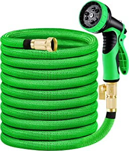 MoonLa Expandable Water 25ft Hose Garden Hose with 3/4