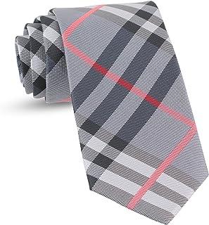 f5566bd305b6 Handmade Plaid Ties For Men Woven Slim Gingham Mens Ties: Thin Tie & Necktie ,