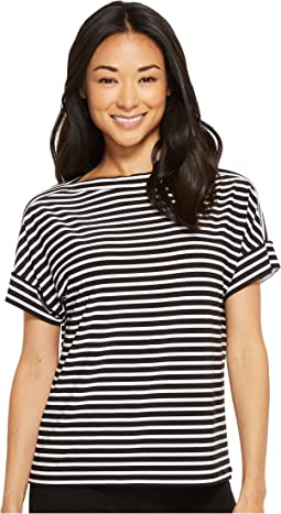 LAUREN Ralph Lauren Petite Striped Jersey T-Shirt