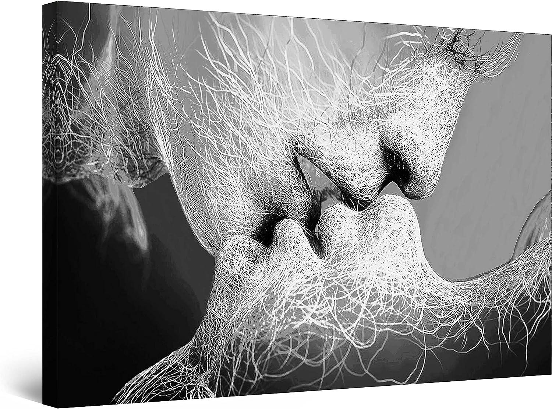 Startonight Cuadro sobre Lienzo en Blanco y Negro Adán y Eva, Impresion en Calidad Fotografica Enmarcado y Listo para Colgar Diseño Moderno Decoración Formato Grande 80 x 120 CM