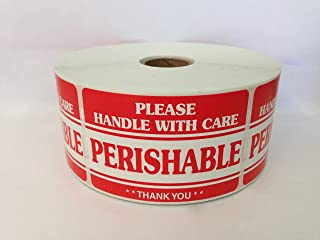 1000 2x3 Perishable Handle with Care Labels Shipping Mailing Special Handling Stickers