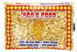 Inca's Food Maiz Cancha Chulpe Para Tostar- Dried Corn Chulpe for Toasting - Product of Peru 15oz