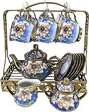 Hunkie Coffee cup set set Whole set European bone china ceramic cup and saucer tea set tea cup household water cup (Ruyi)
