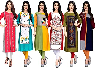 1 Stop Fashion Women's crepe straight Kurti