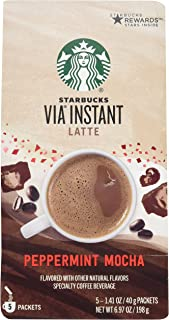 Starbucks Via Peppermint Mocha Latte - 5 Single Serve Packets