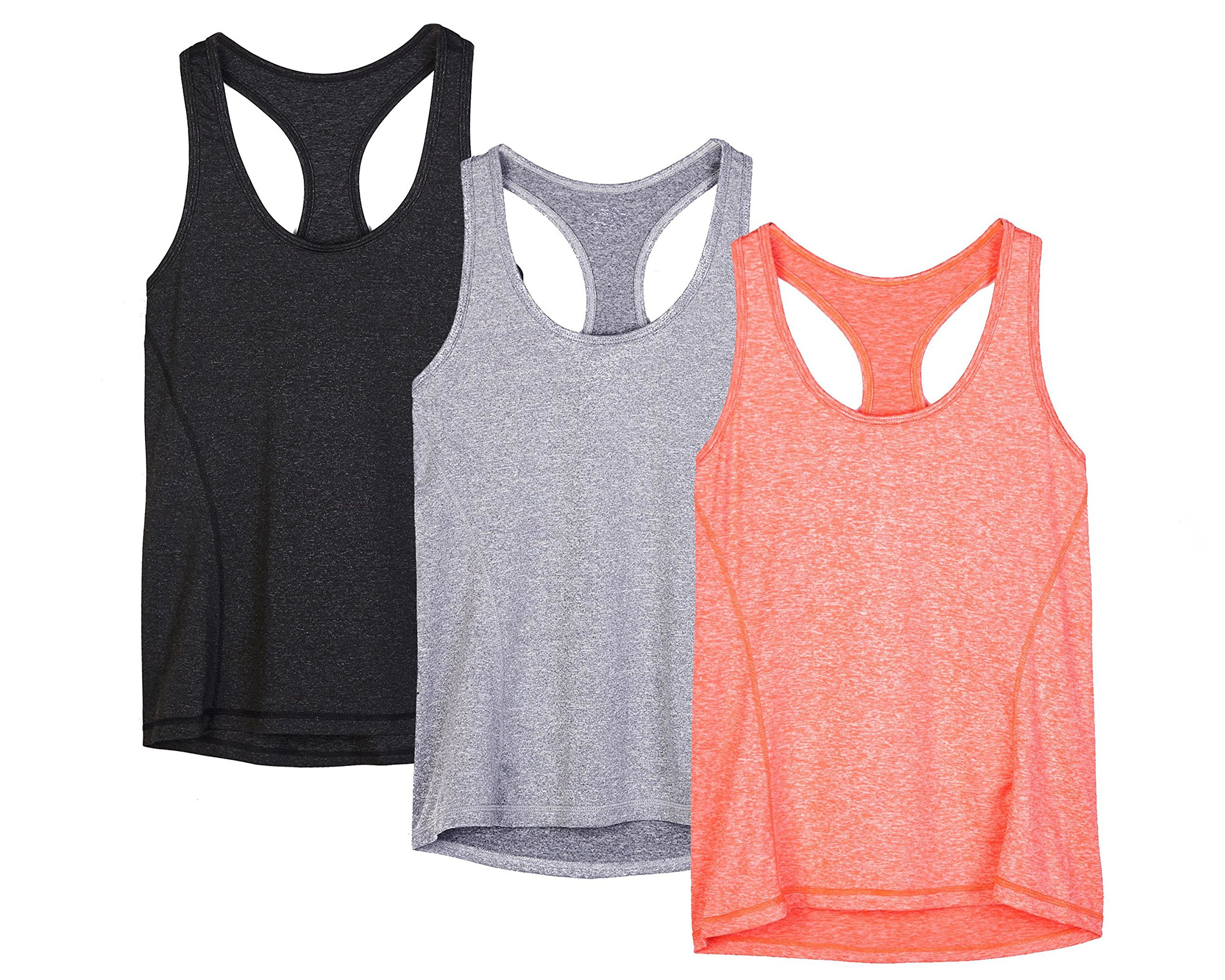 Sleeveless Fitness Running Shirt Gym Sport Vest icyzone Womens Open Back Yoga Tank Tops