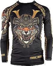 Primal Gear Samurai Tiger BJJ Compression Base Layer Rash Guard Shirt- BJJ, Jiu Jitsu