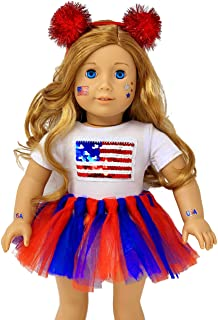 9074583e3848 My Genius Dolls USA Patriotic Doll Clothes. Fit 18 inch Dolls like Our  Generation Doll