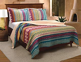 Greenland Home Southwest Quilt Set, 3-Piece Full/Queen, Gold