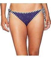 Boat Print Reversible String Bikini Bottom