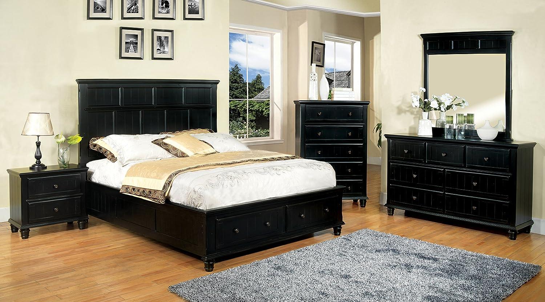 Furniture of America Rowena Headboard, Twin, Black
