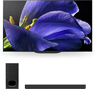 """Sony XBR-77A9G 77"""" (3840 x 2160) Bravia 4K Ultra High Definition Smart OLED TV with a Sony HT-S350 2.1 Channel Home Theate..."""