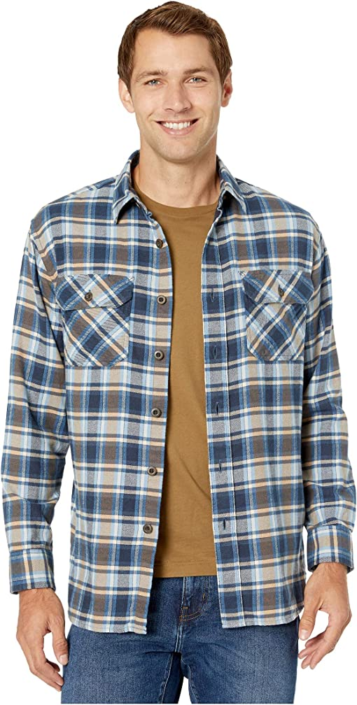 Light Blue/Navy/Brown Plaid