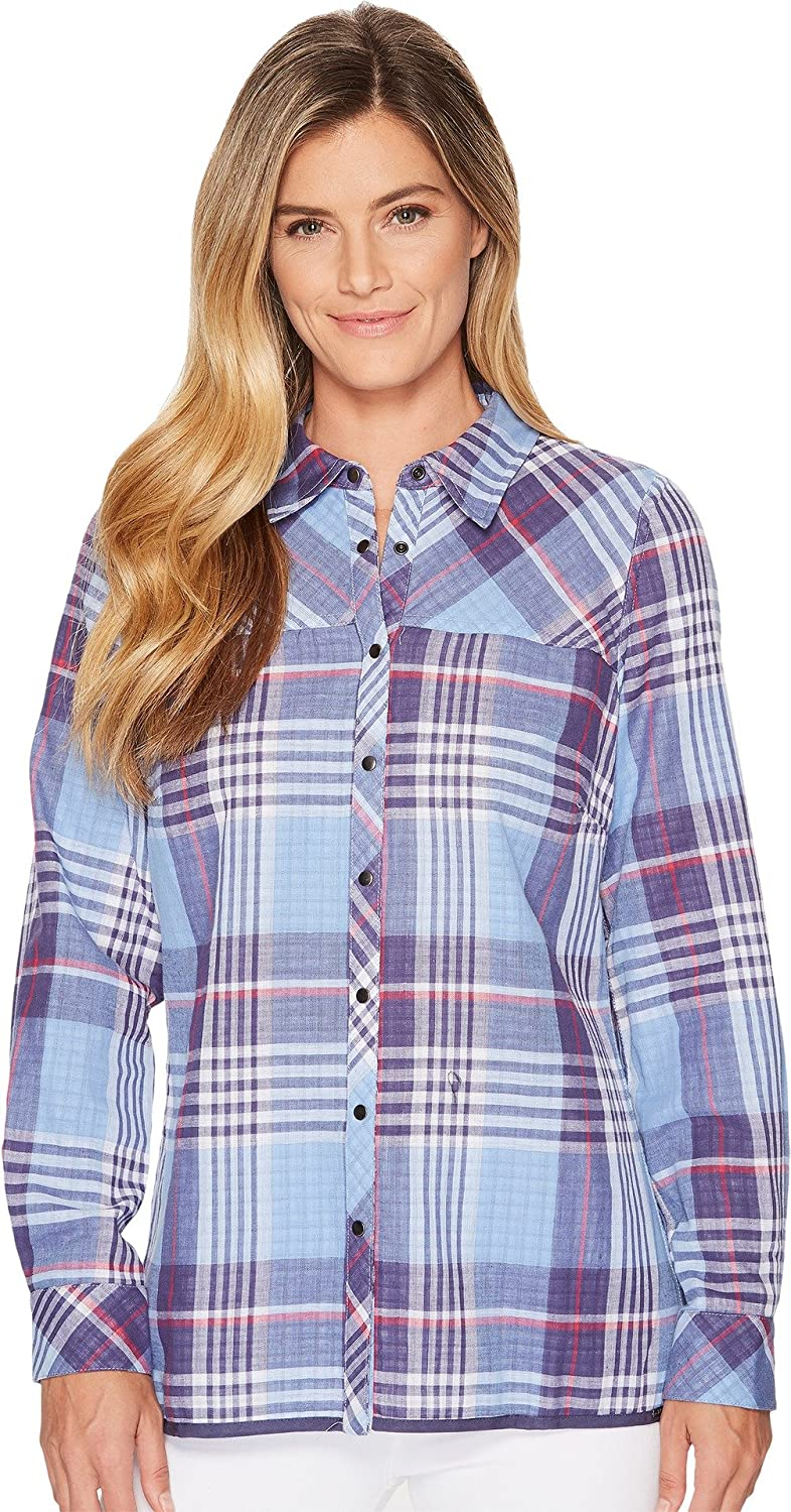 FDJ French Dressing Jeans Womens Big Check Little Check Reversible Blouse