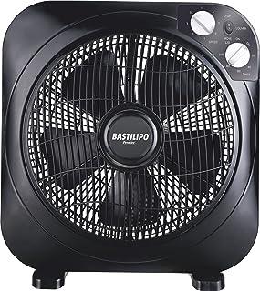 Bastilipo Zahara Ventilador Tipo Box con Temporizador, 45 W, Negro