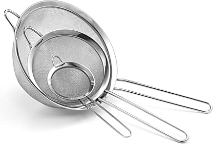 (1, Stainless Steel) - Cuisinart Set of 3 Strainers