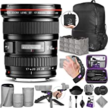 Canon EF 17-40mm F/4L USM Ultra Wide Angle Zoom Lens with Altura Photo Essential Accessory and Travel Bundle