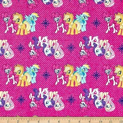 483d1fa62f3 Hasbro My Little Pony Refresh Friends Flannel Magenta, Fabric by the Yard
