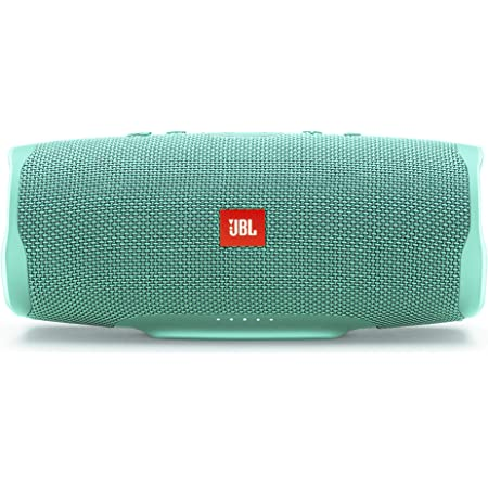 JBL Charge 4 by Harman Powerful Portable Bluetooth Speaker with Upto 20 Hours Playtime, Built-in 7500 mAh Powerbank & IPX7 Waterproof (Without Mic, Teal)