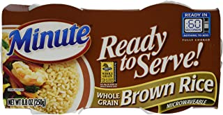 Minute Ready to Serve Natural Whole Grain Brown Rice 2 - 4.4 oz cups (Pack of 8)