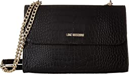 LOVE Moschino - Croco Pu Shoulder Bag