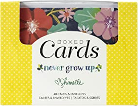 AMERICAN CRAFTS Cards/ENVS A2 40/Box, Shimelle Never Grow Up, One Size